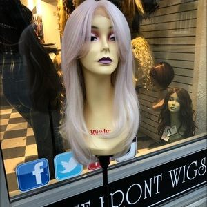 Pink lacefront wig sale long bangs 2019 hairstyle